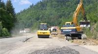 Saulxures sur Moselotte : travaux en cours sur la RD 43