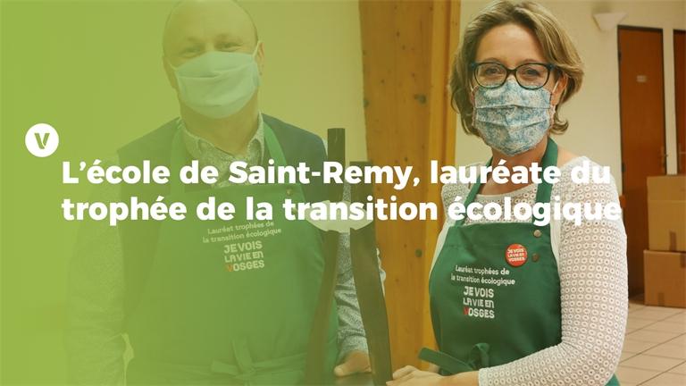 L'école de Saint-Remy, lauréate du trophée de la transition écologique