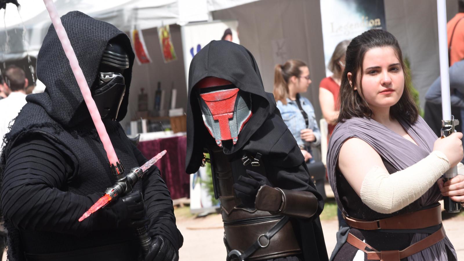 Des personnages emblématiques de la saga Star Wars avaient fait le déplacement.