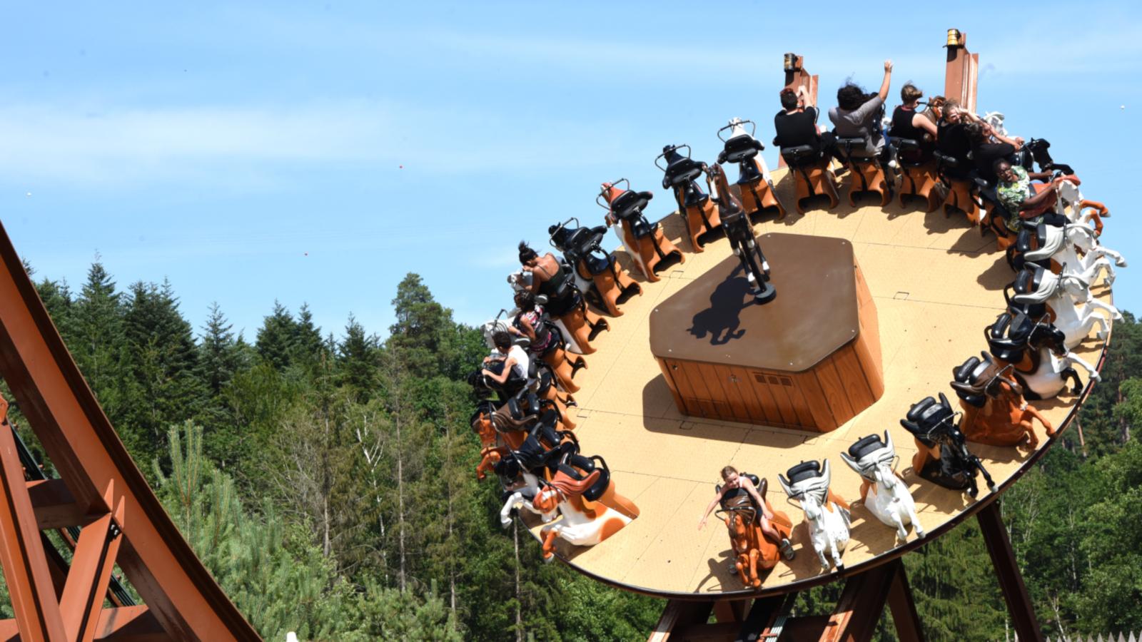 Tous les 500 passagers du Timber Drop, un arbre est planté.