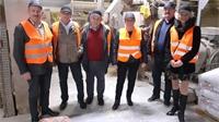Visite d'entreprises pour Alain Roussel et Carole Thiébaut