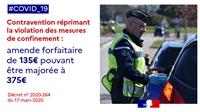 Confinement : l'amende de 135 euros entre en vigueur